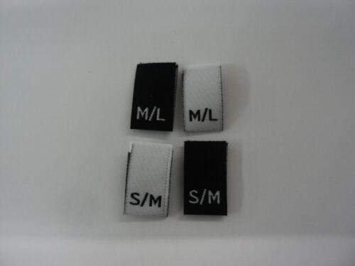 /& s // m Étiquettes vêtements tissé taille // tailles m // l