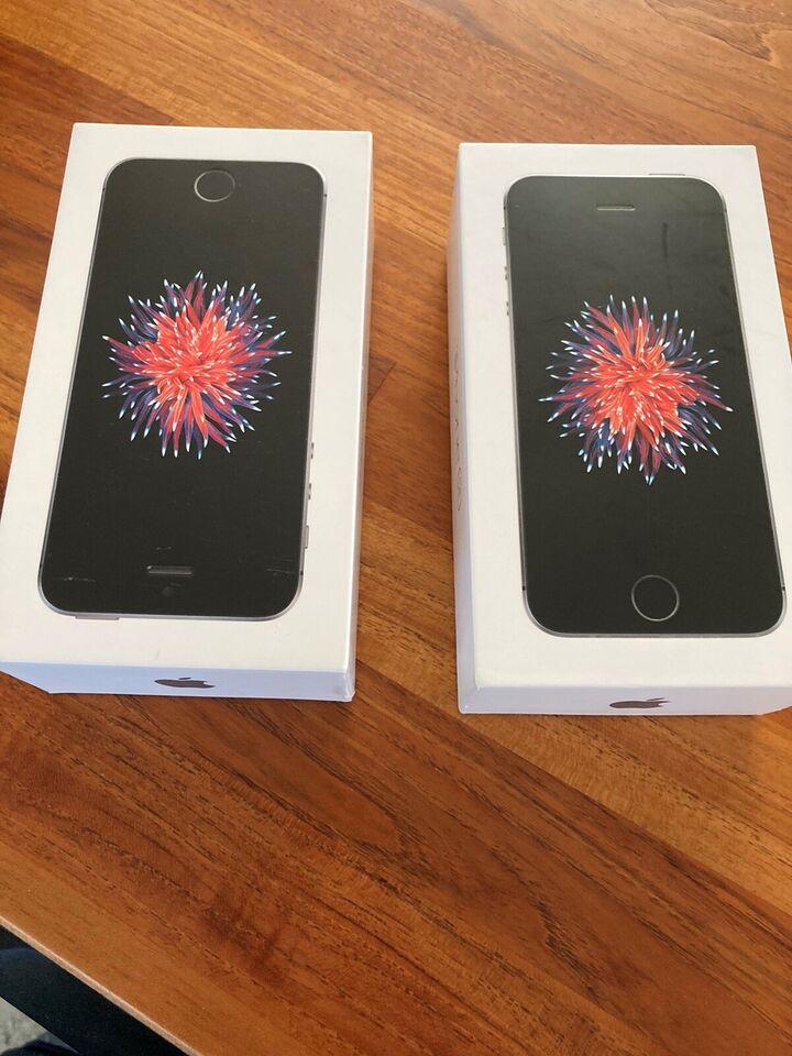 iPhone SE, 64 GB, sort