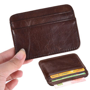 Wallet-slim-money-clip-credit-card-holder-ID-business-men-genuine-leat-ME