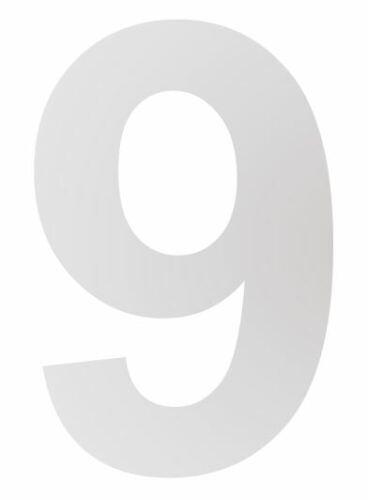 HOPPE Edelstahl rostfrei matt Ziffer Zahl Buchstabe Hausnummer 0 6 7 8 b