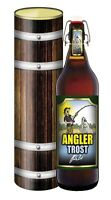 Angler Trost. Glückwunsch Humor Bier Geschenk 1 Liter Pils Fischer