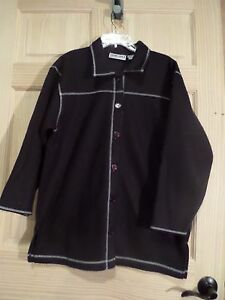 Extra-Touch-Ladies-1X-Black-shirt-jacket-button-front