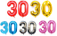 30th-Helium-Foil-Birthday-Anniversary-Party-Balloon-32-034-Or-40-034 thumbnail 1