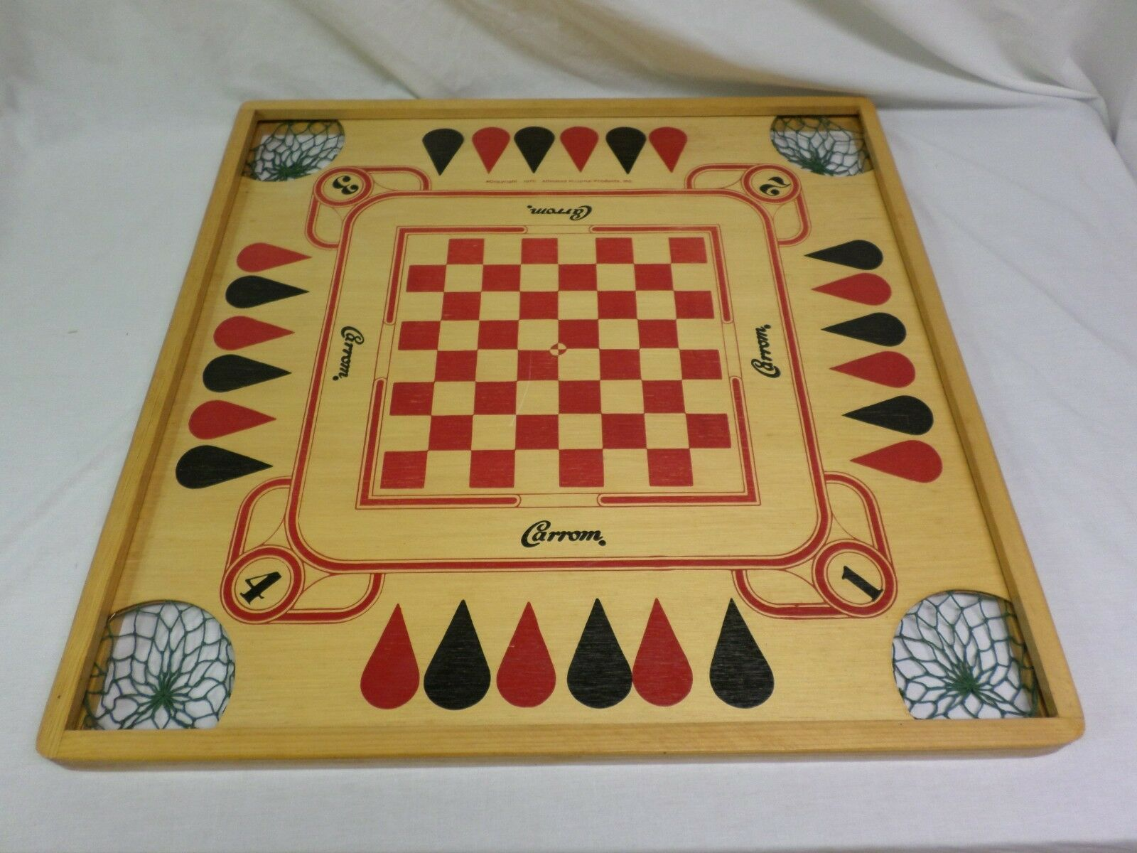 Vintage Genuine Wooden Carrom Game Board [ Affiliated Hospital Products 1970 ]