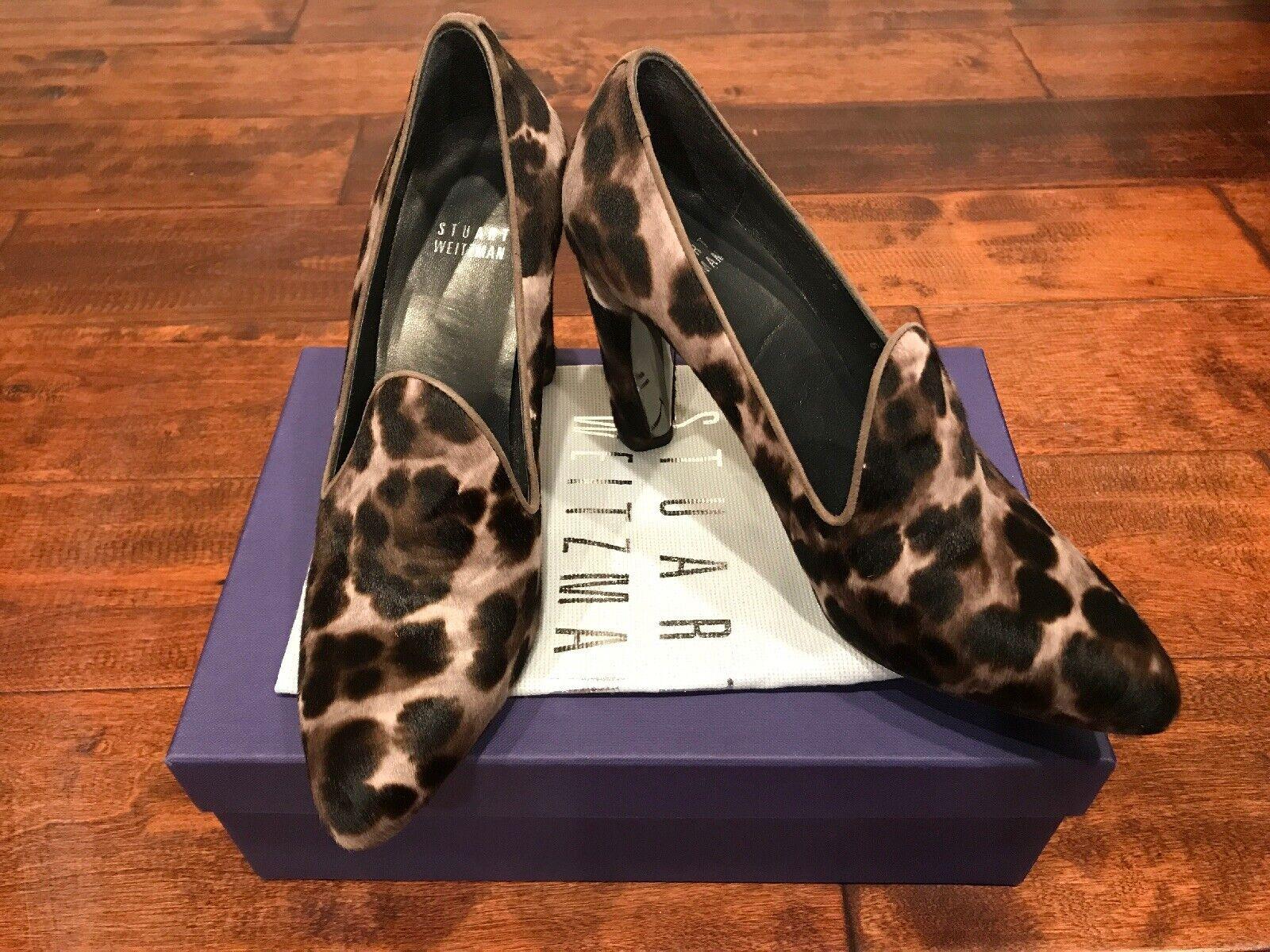 Stuart Weitzman  Uprise Stone Leopard Hair  Heels, Size 6.5