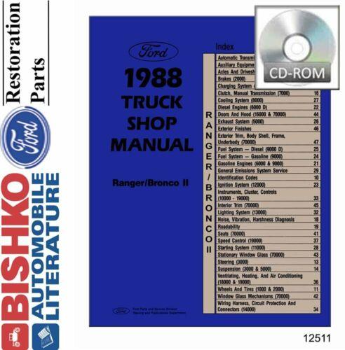 Bronco II 1988 OEM Digital Repair Maintenance Shop Manual CD Ford Truck Ranger