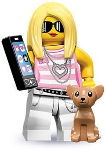 Lego 71001 Minifigures serie 10 Trendsetter Paris Hilton con Cane e Ipod Nuova