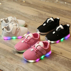 Kids-Toddler-Baby-Boys-Girl-Soft-Running-Shoes-Luminous-Trainers-LED-Sneakers-US