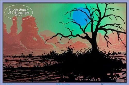 Desert Willow Blacklight Poster 35 x 23