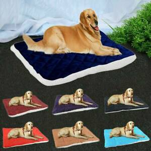 Plush-Dog-Bed-Warm-Soft-Large-Pets-Cat-Cushion-Sleeping-Mat-Cozy-Kennel-Washable