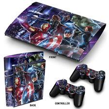 Ps3 Superslim Playstation 3 Skin Pegatinas Pvc Para Consola Y 2 Almohadillas Heroes
