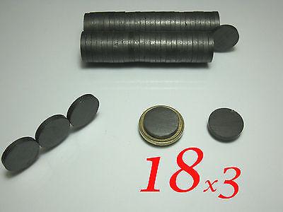 50 Pezzi Calamiti Magneti In Ferrite Y30 18x3mm 50 Pezzi. Valore Eccezionale