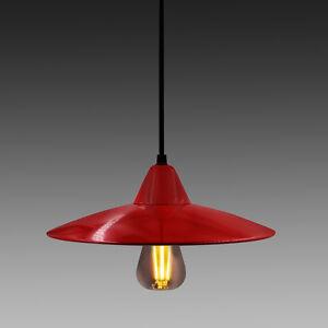 Abat-Jour-Rouge-Luminaire-Suspension-Cuisine-Salle-a-Manger-Suspendue-Lampe