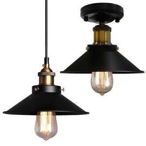 Industrial Hanging Ceiling Edison Light Semi Flush Mount
