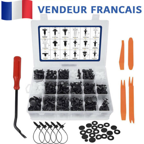 435Pcs Rivets Fixation Retenue Clips Pare-chocs Boue Porte Agrafe Trim