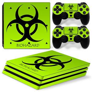 Details Zu Playstation 4 Ps4 Pro Skin Vinyl Design Folie Aufkleber Schutz Sticker Biohazard