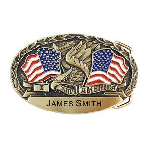 I Love America Personalized Belt Buckle OBM118P IMC-Retail
