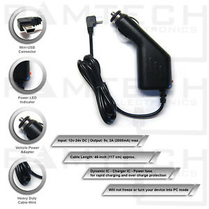 Fuse Protected Volt Plus Tech Heavy Duty Car Charger for Garmin dezl 570LMT to Plug-in and GO!