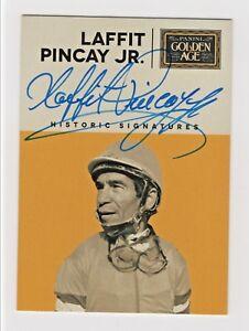 2014-Panini-Golden-Age-Historic-Signatures-Laffit-Pincay-Jr-Jockey-Autograph-HOF