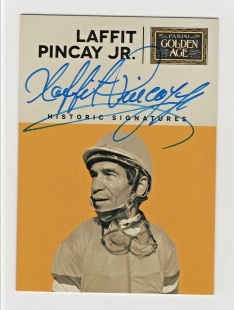 2014 Panini Golden Age Historic Signatures Laffit Pincay Jr Jockey Autograph HOF