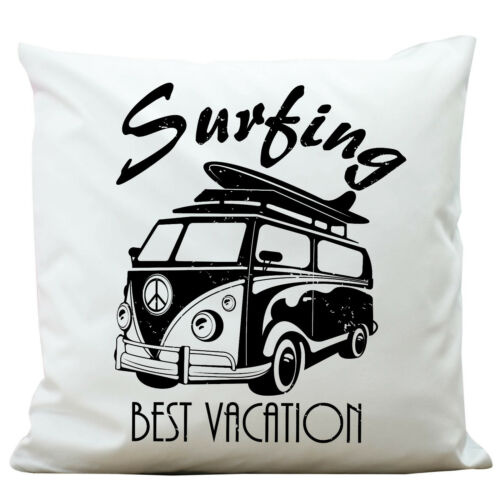 DECO Coussin Camionnette Surfing Best Vacation aventure kp319 Polyester Adventure