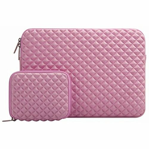 """Pink Laptop Sleeve Bag For 13/"""" 13.3/"""" MacBook Pro//Air,Notebook With Small Case"""