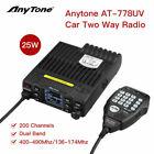AnyTone AT-778UV Dual Band Transceiver Mobile Radio VHF/UHF Two Way - Black