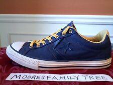 CONVERSE All Star Men's Junior Blue Gold Shoes Sz:6 Junior US/5.5 UK