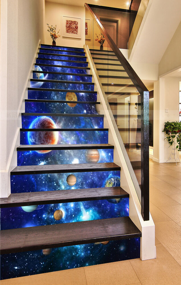 3D Solar System Planet 57 Risers Decoration Photo Mural Vinyl Decal Wallpaper CA