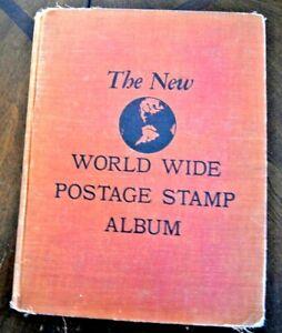 CatalinaStamps-New-World-Wide-Stamp-Album-Minkus-1954-w-450-Stamps-D42