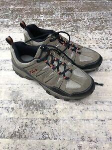Fila-Men-039-s-MIDLAND-Rugged-Trail-Hiking-Shoes-Brown-Orange-Black
