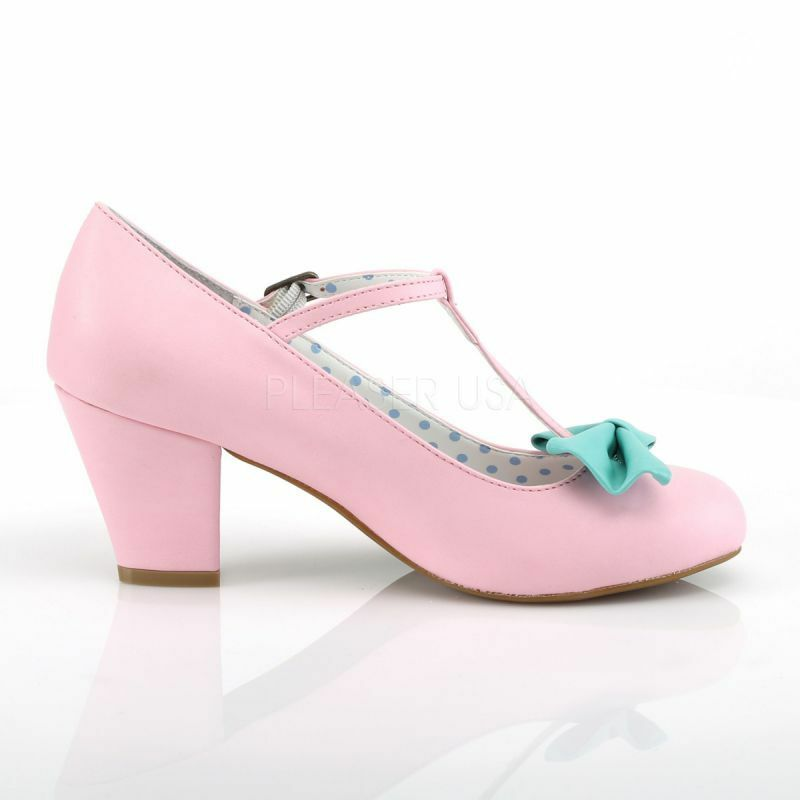 Pin Up Couture Pumps WIGGLE-50 Rosa Retro T-Riemchen Pumps Pumps Pumps WIGGLE-50 - Rosa c1af09