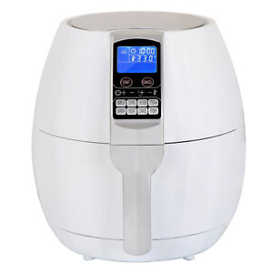 1500W-LCD-Electric-Air-Fryer-W-8-Cooking-Presets-Temperature-Control-White