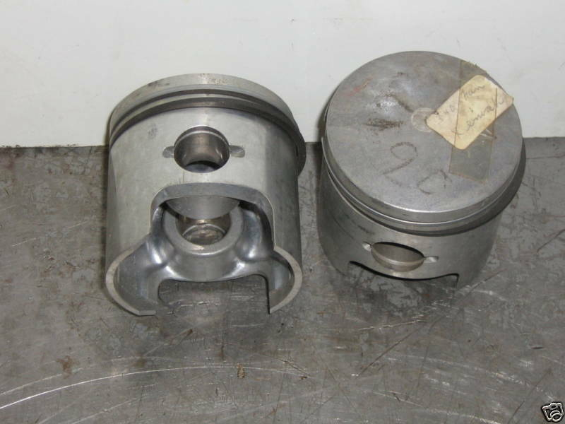 Vintage chaparral,rupp 340 pistons  std bore fan cooled