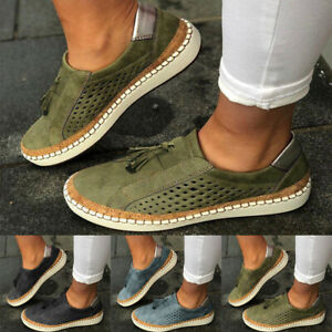 Women-Ladies-Casual-Suede-Shoes-Plimsolls-Flats-Slip-On-Loafers-Sneakers-Pumps