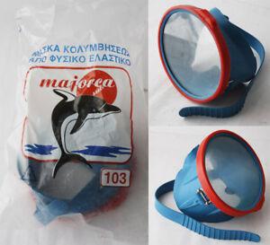 VERY-RARE-VINTAGE-80-039-S-MAJORCA-SWIMMING-SNORKEL-MASK-BLUE-GREECE-GREEK-NEW