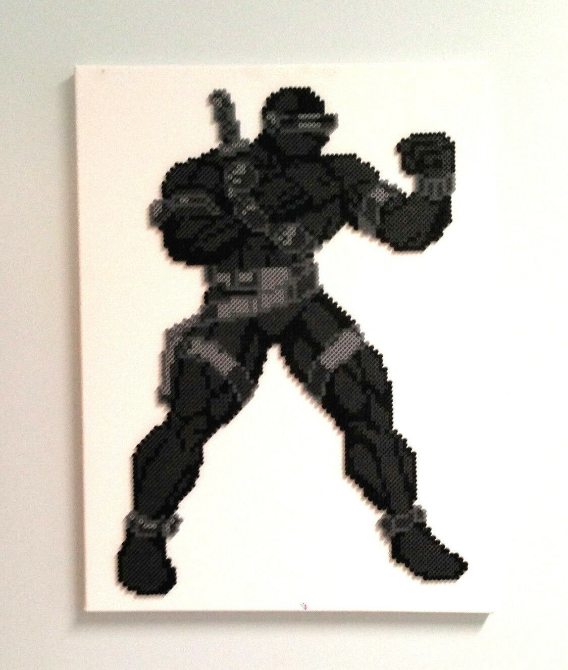 GI JOE JOECON 2014 Commando Snake Eyes Version 2 Fine Artwork on Canvas