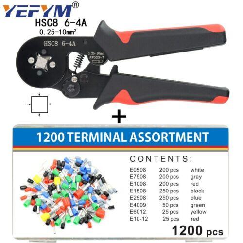 Ferrule Crimping Tool Kit Sopoby Ferrule Crimper Plier 0.08-16mm2 //1200pcs