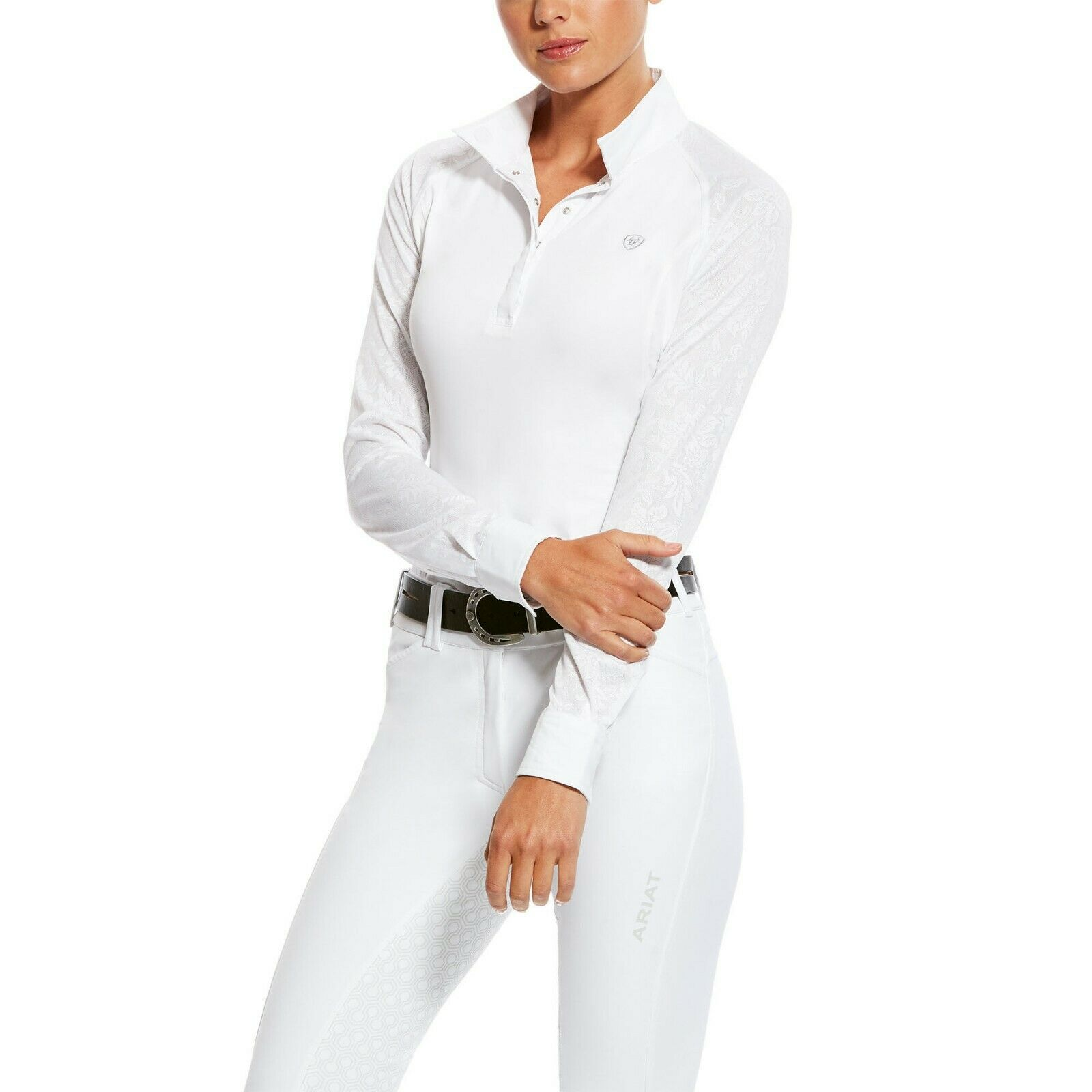 Ariat Women's Marquis Vent Show  Shirt - White Volte - Different Sizes  in stock