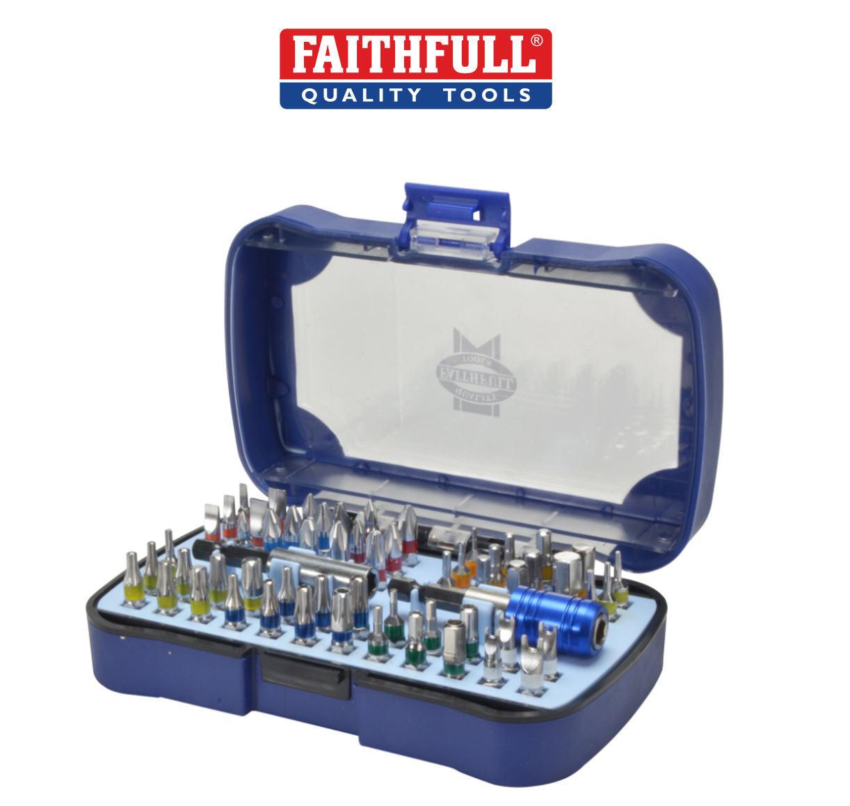 Faithfull 60 PCE sécurité résistant aux bosses Ensemble de de de tournevis bits torx , 79dcb8