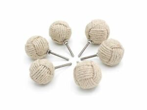 Details About White Jute Rope Door S Knot Drawer Pulls And Pull