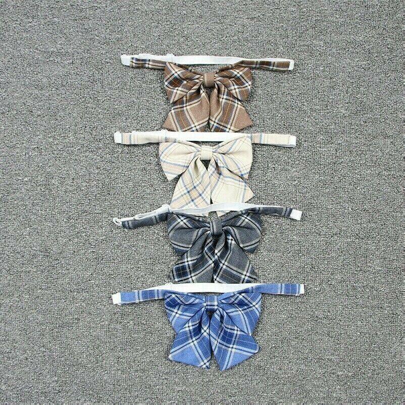 Girl Neck Tie Check Plaid Japanese JK Uniform Lolita Bow Tie Cosplay Preppy NR9