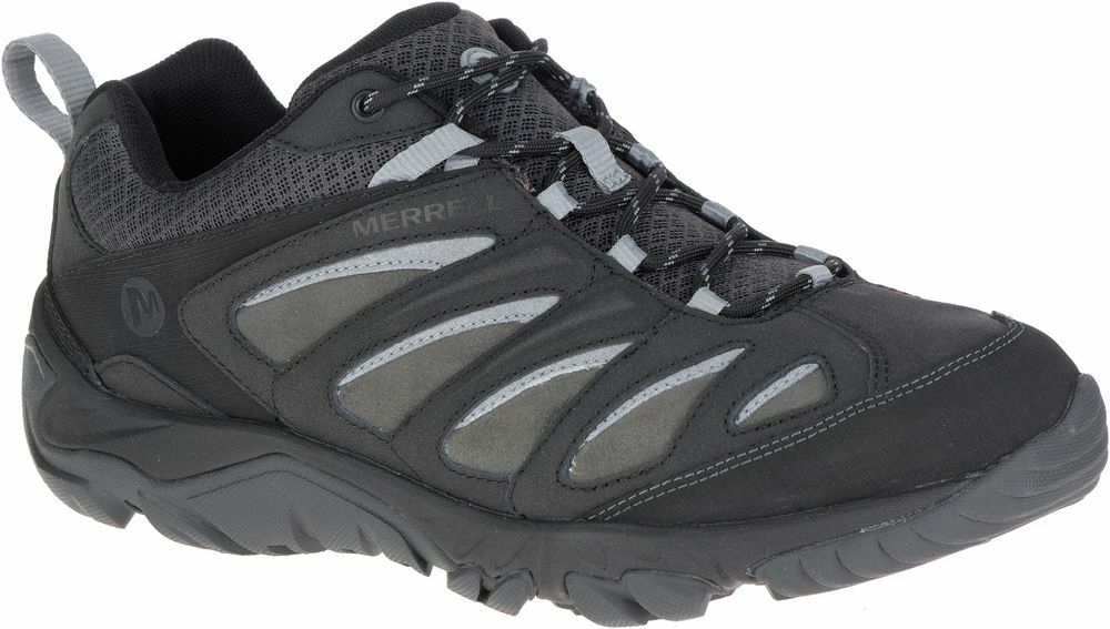 Merrell Outpulse Leather Mens schuhe Turnschuhe Trekking Hiking Trainers New J12369