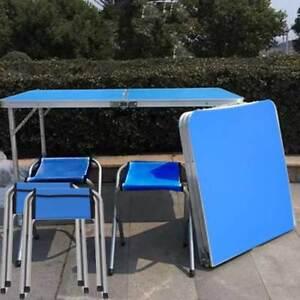 120cm Campingtisch Klapptisch Gartentisch Stuhl Partytisch Mit 4