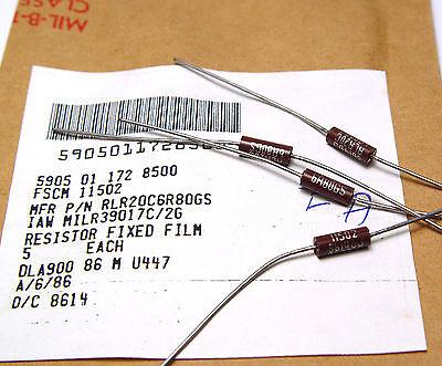 20x Widerstand 1 Ohm ca 0.5 W NOS Strommeß-//Sicherungs-Widerstand