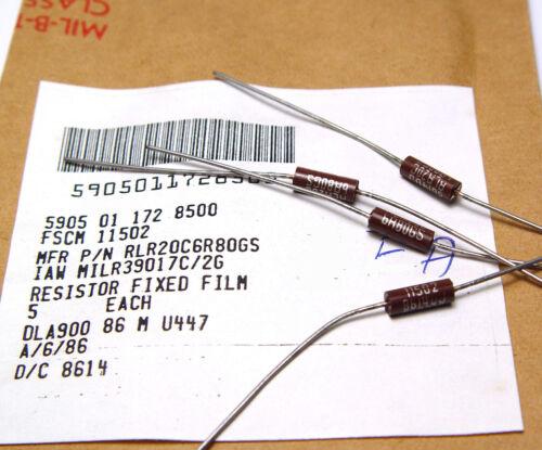 0.5W NOS 40x MIL 39017C Widerstand 6.8 Ohm Meßgeräte-Qualität