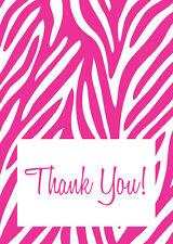 100 ZEBRA THANK YOU CARDS wedding party gifts boys girls baby shower envelopes
