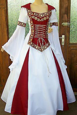 Medioevo Matrimonio Abito Lorena * Gothic * Veste * Su Misura * Tedesco Tg. 34-64-gewand*nach Maß*deutsche Gr.34-64 It-it Mostra Il Titolo Originale