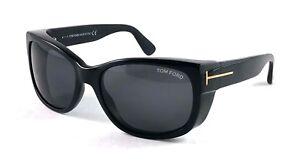 726feb63556 TOM FORD Carson TF441 TF 441 01A Black Grey Sunglasses Frame 56-17 ...