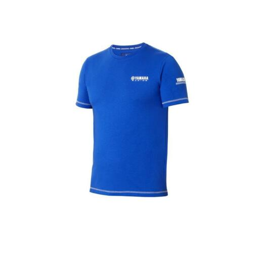Genuine Yamaha Racing Paddock Blue Men/'s Casual T-Shirt BLUE OR BLACK